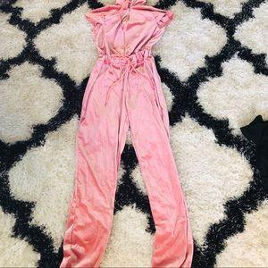 Other - Pink velvet jumpsuit